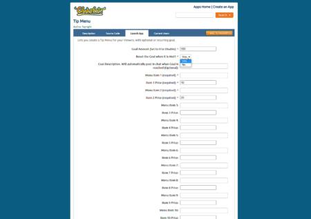 Tip Menu Chaturbate Application Installation